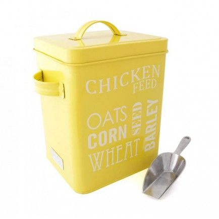 Chicken Feed Tin & Scoop