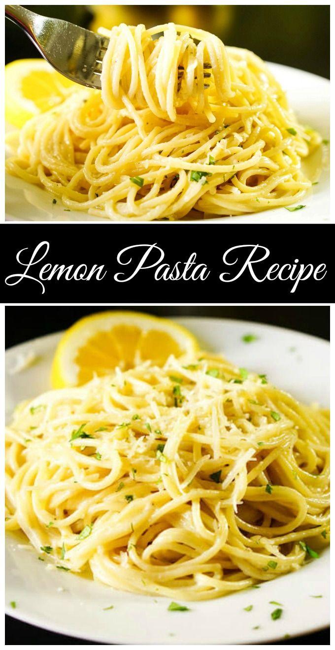 Creamy Lemon Garlic Pasta Recipe In 2020 Lemon Pasta Recipes Lemon Pasta Lemon Garlic Pasta