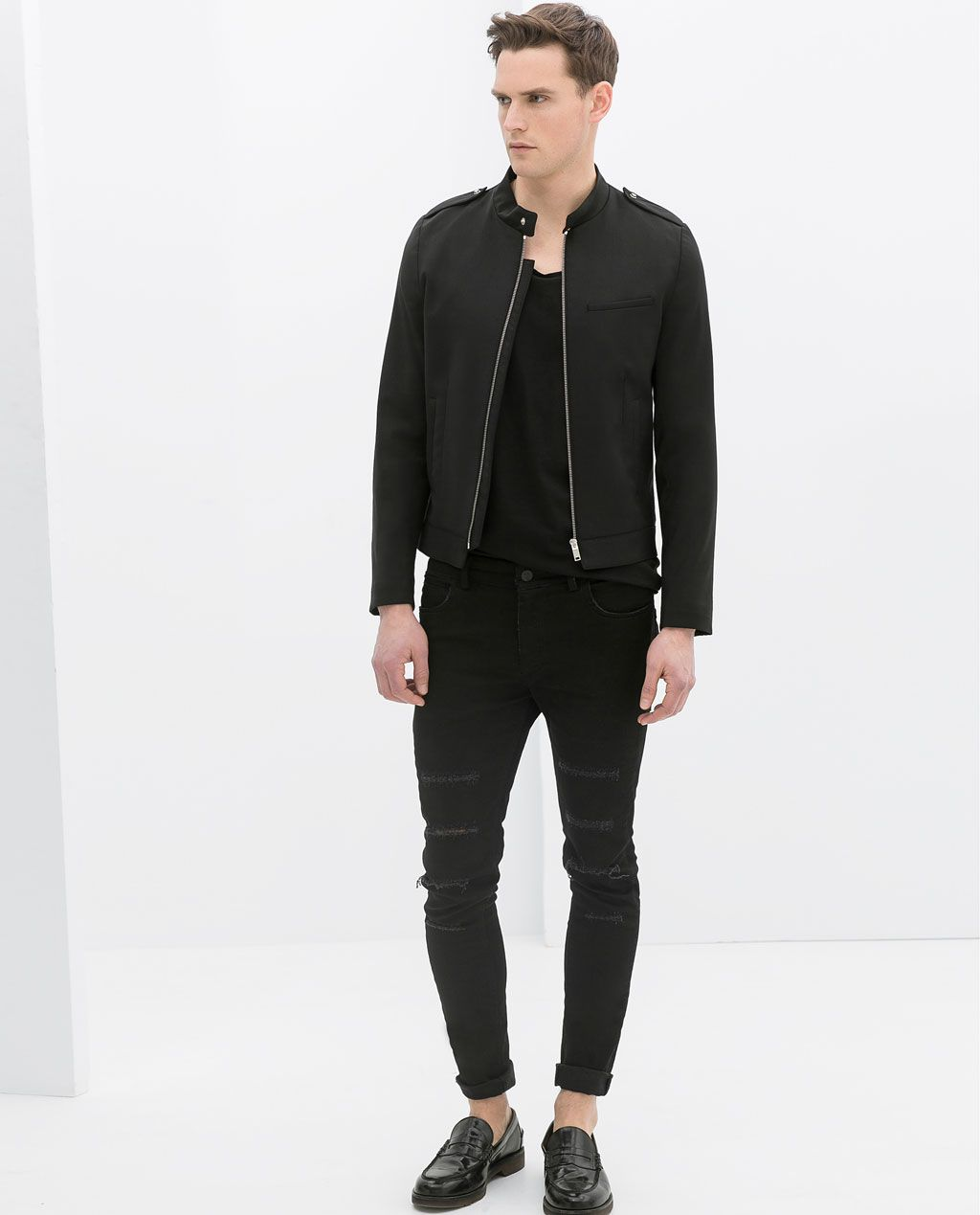250973eeb0b8c ZARA - COLLECTION AW14 - WOOL BOMBER JACKET