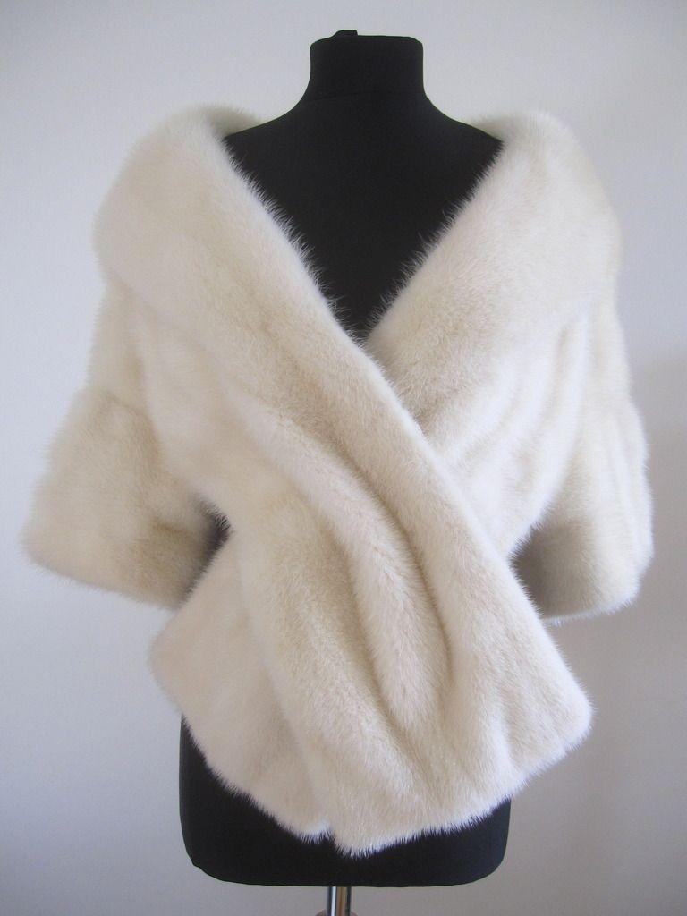 White Fur Stole >> Fine Quality Saga Furs Vintage White Mink Stole Bolero