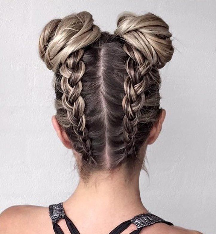 Braid hairstyle with updo ideas to try #hairstyle #braids #updo #hairideas