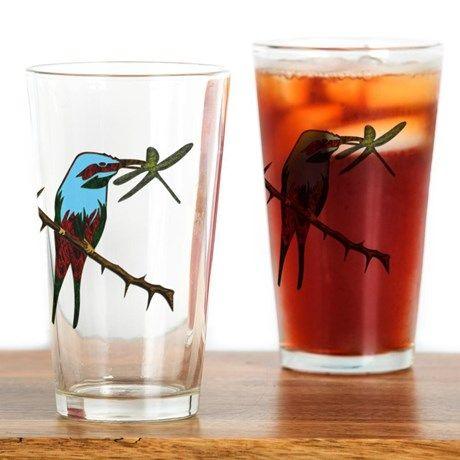Colorful Bird Drinking Glass 16oz Drinking Glass $18.00