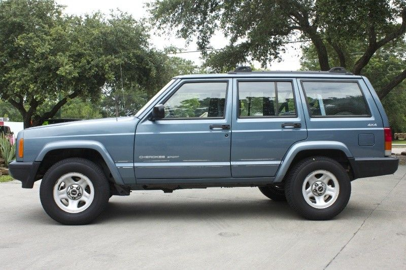 1999 GunMetal Blue Cherokee Sport 4WD Power Windows