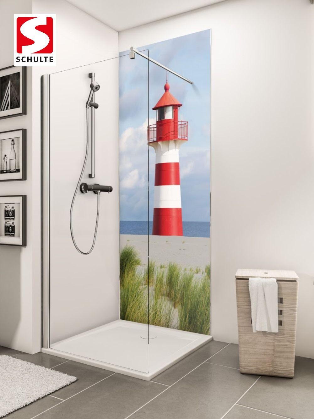 Schulte Duschruckwande Decodesign Foto Leuchtturm Paneel Wandverkleidung Fliesenersatz In 2020 Duschruckwand Dusche Wand