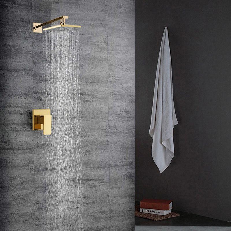Regendusche Unterputz Gold Im Badezimmer In 2018 Duschsystem