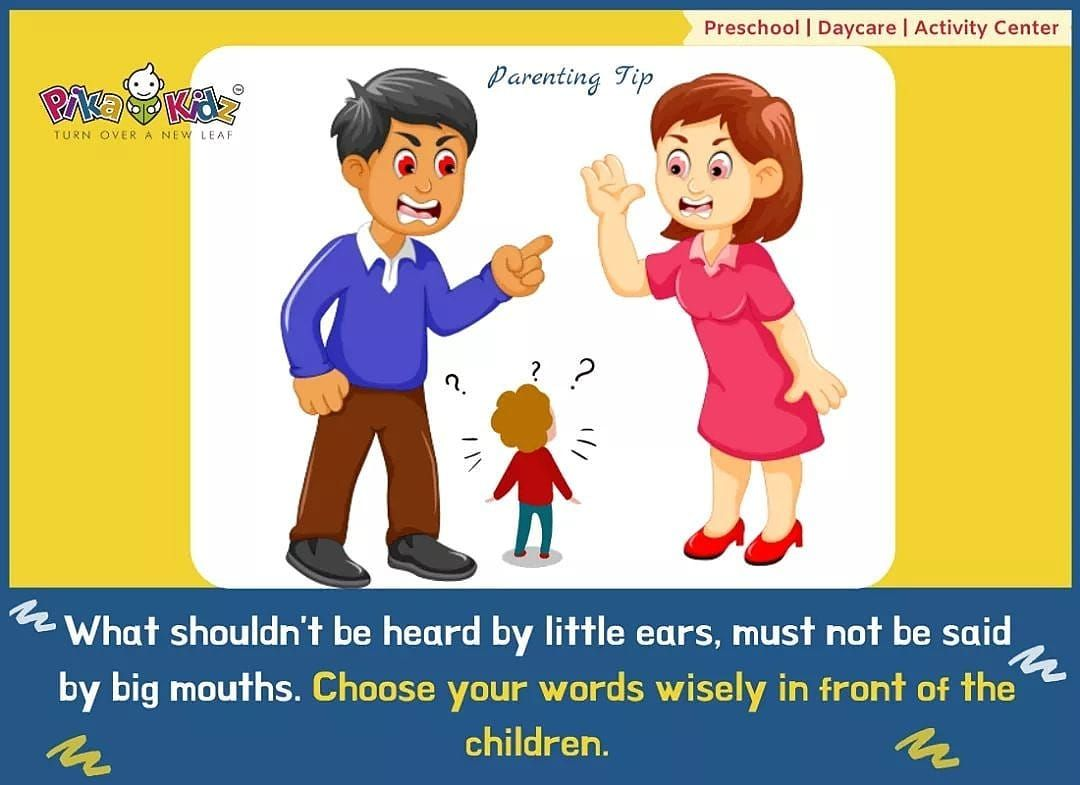 Instagram Bridge   Pika Kidz Parenting Tip- What shouldn't be heard by little ears must not be said by big mouths. Choose your words wisely in front of the children.  #pikakidz #parentingtips #parents #playschool #pikakidzplayschool #pikakidzpreschool #pikanians #children #child #kids #mother #father #care #bonding #tips #motherhood #fatherhood #childhoodPika Kidz Parenting Tip-... #bondingwithchild