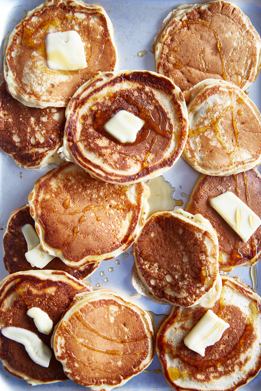American Buttermilk Pancakes Izy Hossack Top With Cinnamon Recipe In 2020 Buttermilk Pancakes Sweet Breakfast Egg Recipes For Breakfast