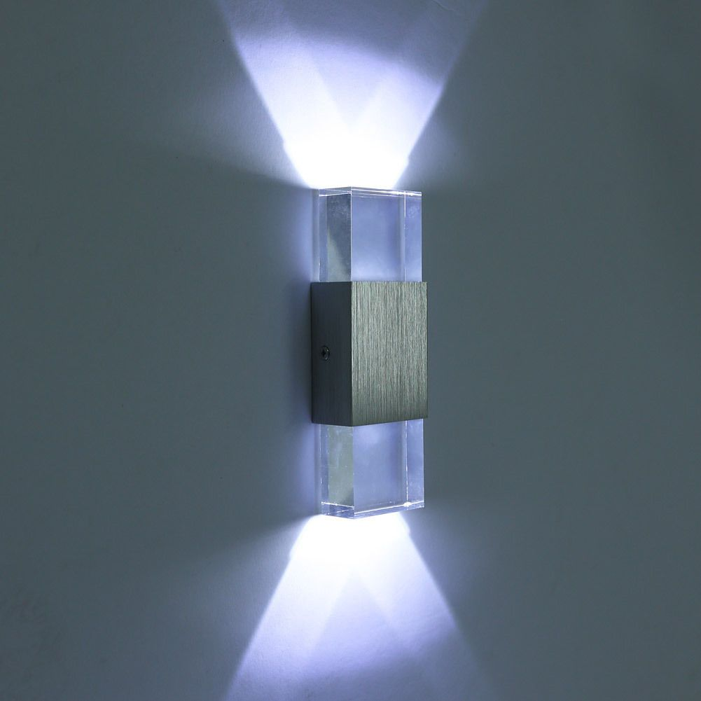 Modern 3W Indoor LED Wall Lights Up Down LED Crystal Lamp