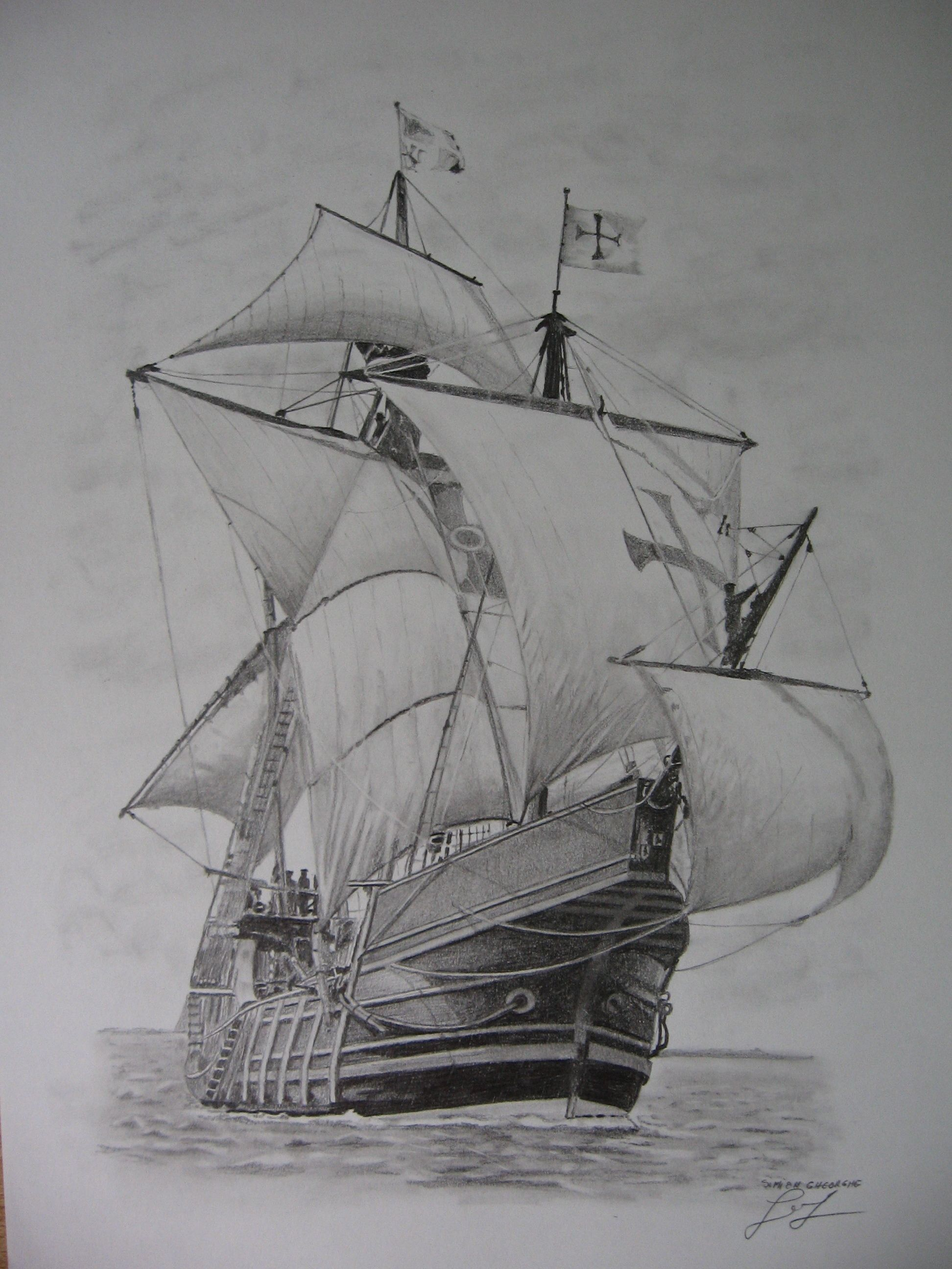 Barcos Veleros A Lapiz Dibujo De Barco Arte De Barcos Tatuajes De Barcos