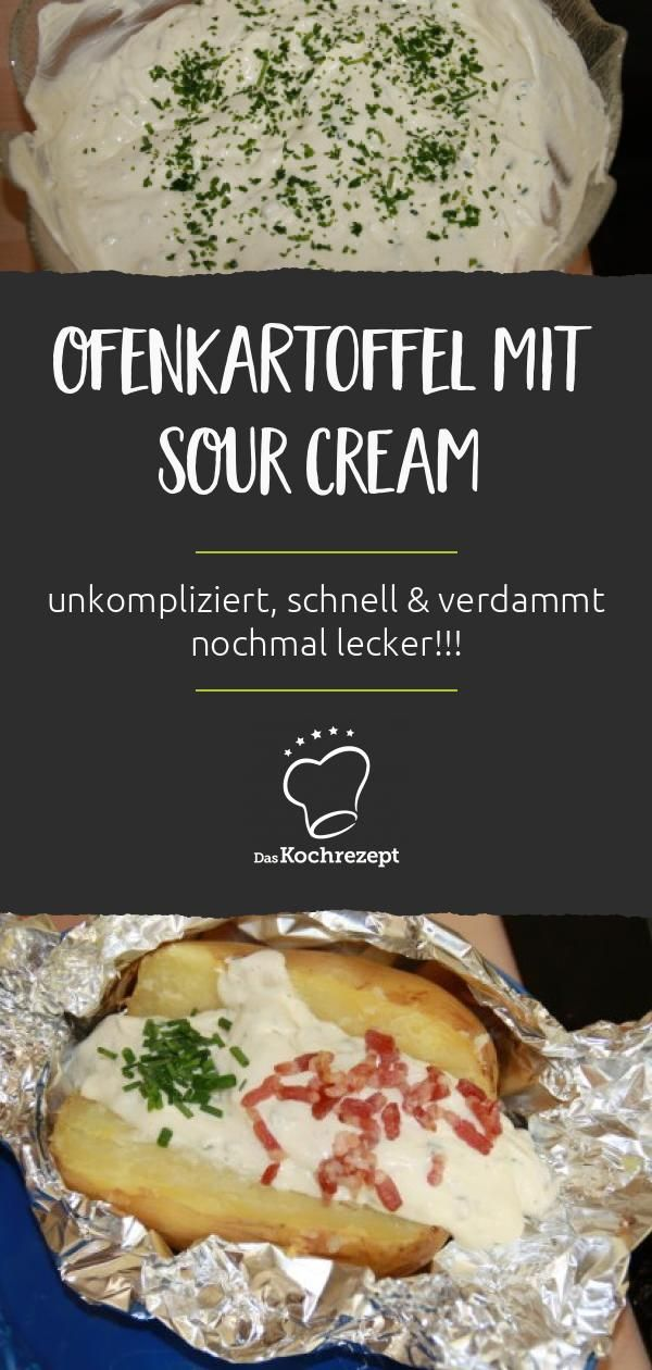 Photo of Sour Cream – quick and tasty with a baked potato
