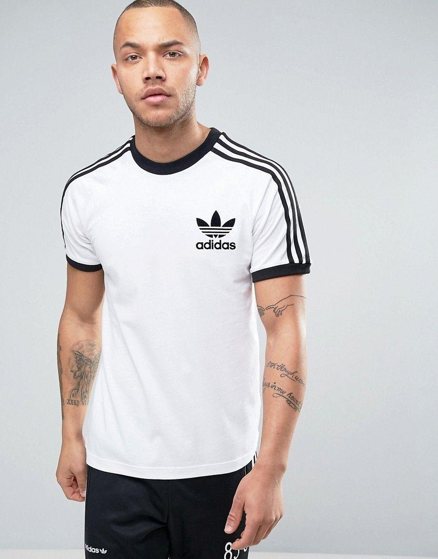 adidas Originals California T-Shirt In White AZ8128 - White