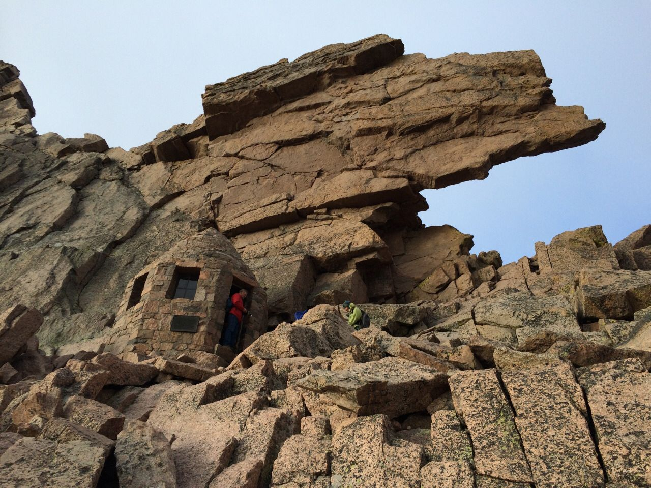 Shelter At The Keyhole On Longs Peak In Rocky Mountain