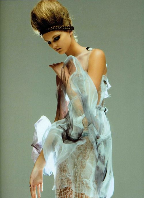 Rodarte's F/W 2008 Hand Dyed Dress featured in the October 2008 issue Numéro.