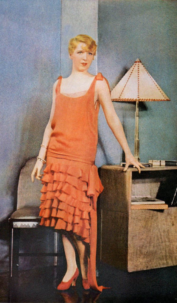 Actress Ina Claire wearing Chanel. Ladies Home Journal, June 1928.