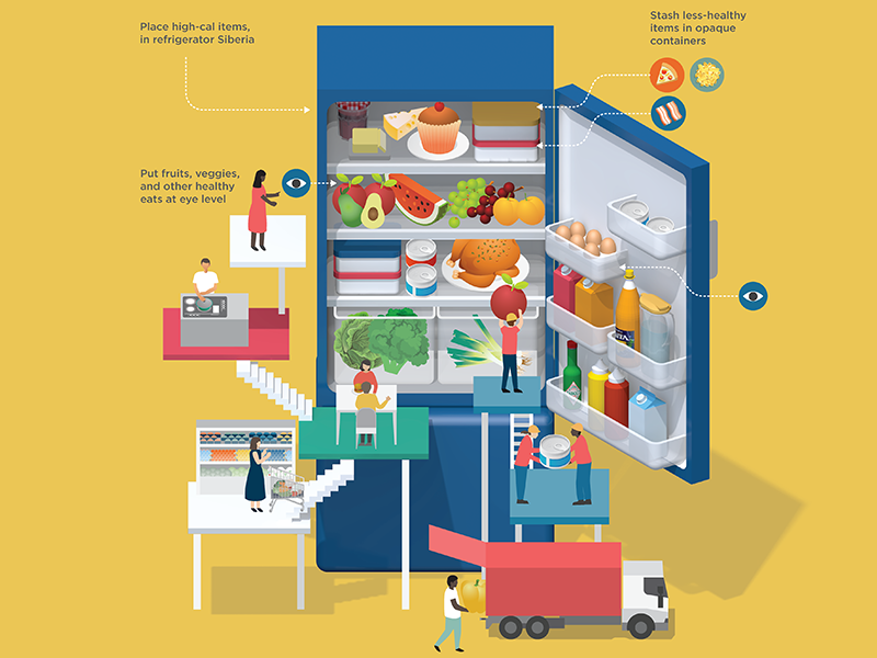 Lose weight by re-arranging your fridge  by Jing Zhang #Design Popular #Dribbble #shots