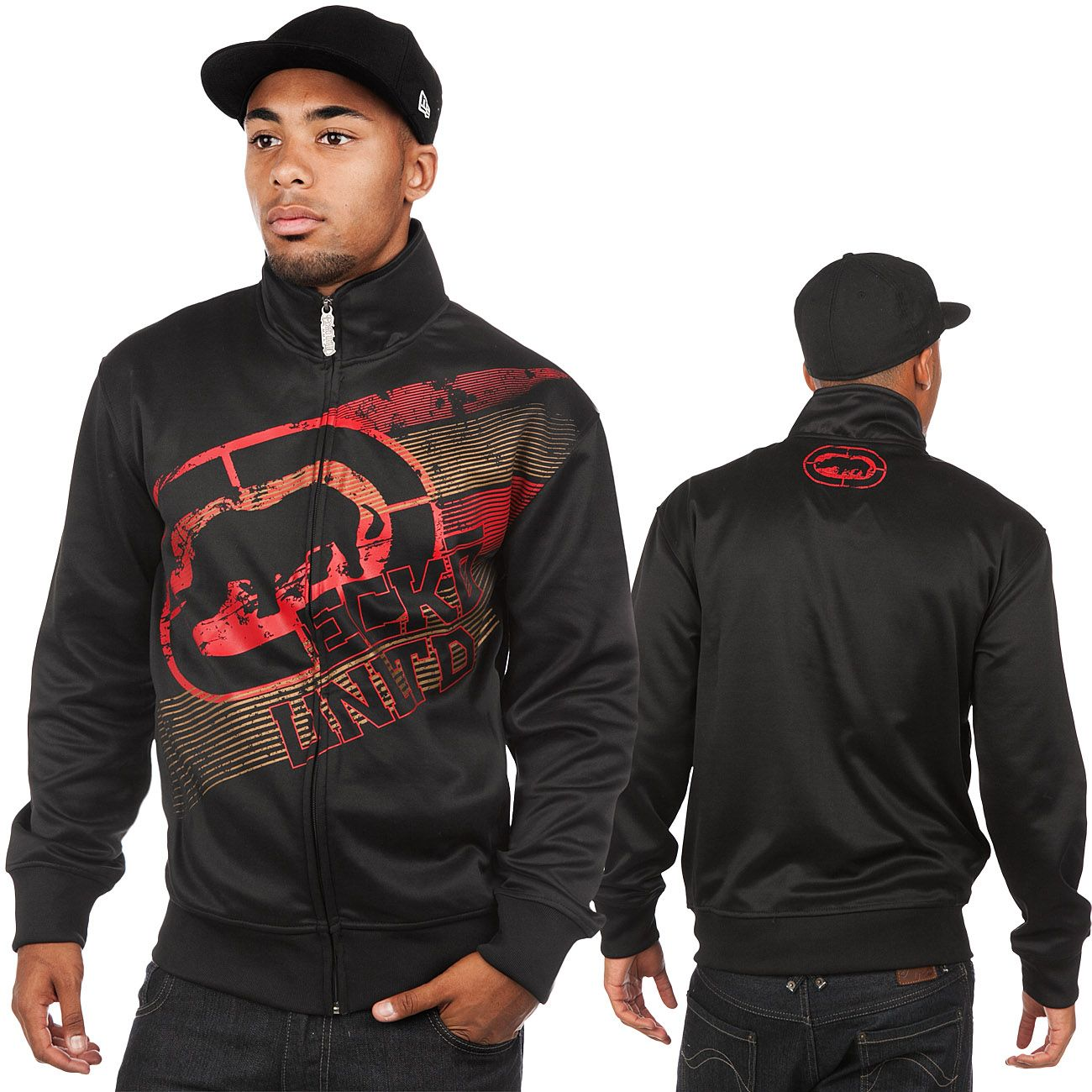 ecko unltd mma overhand track jacket real black �75