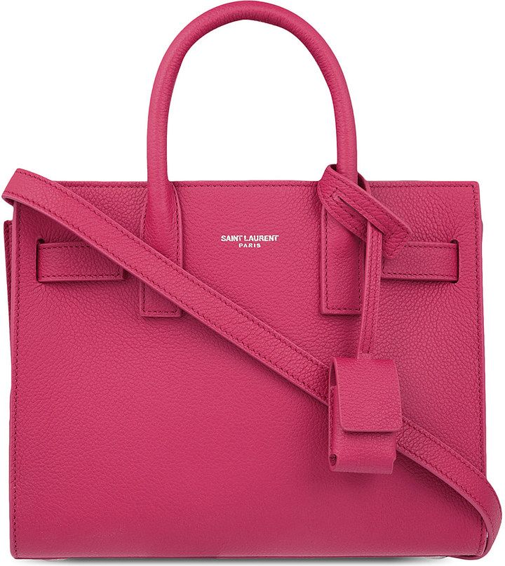 SAINT LAURENT Sac de Jour Nano grained leather tote - $1,430.00