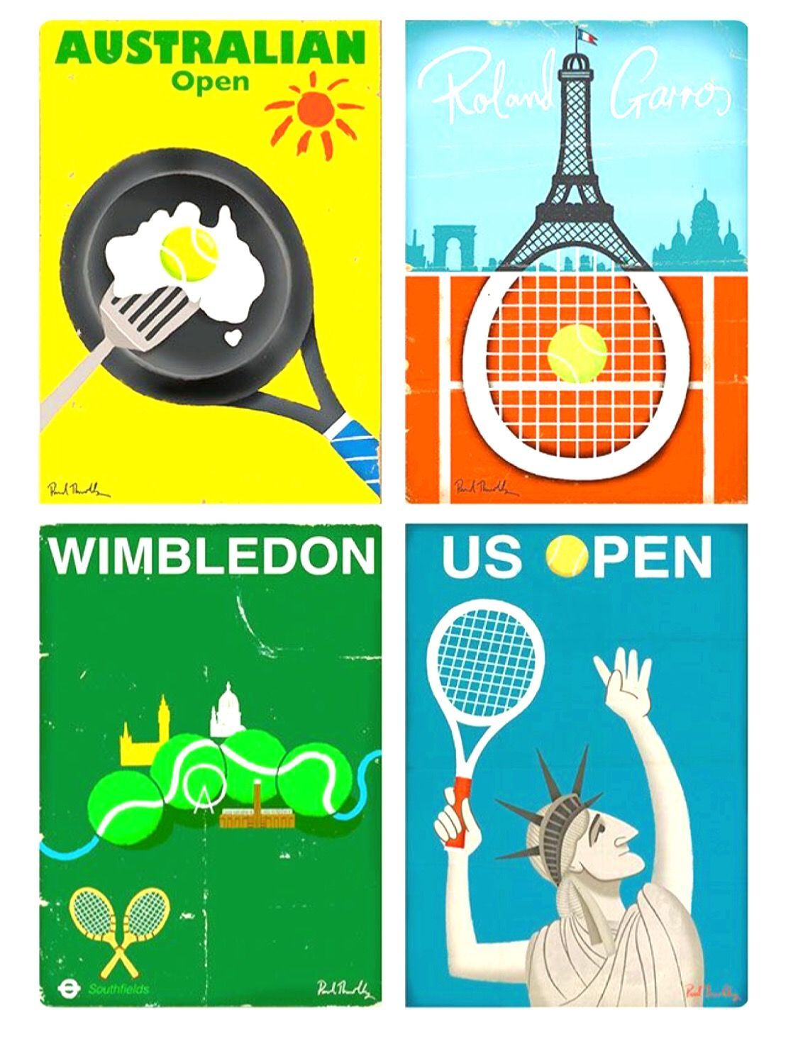 The Four Tennis Grand Slams Tennis Tennis Art Tennis Photography