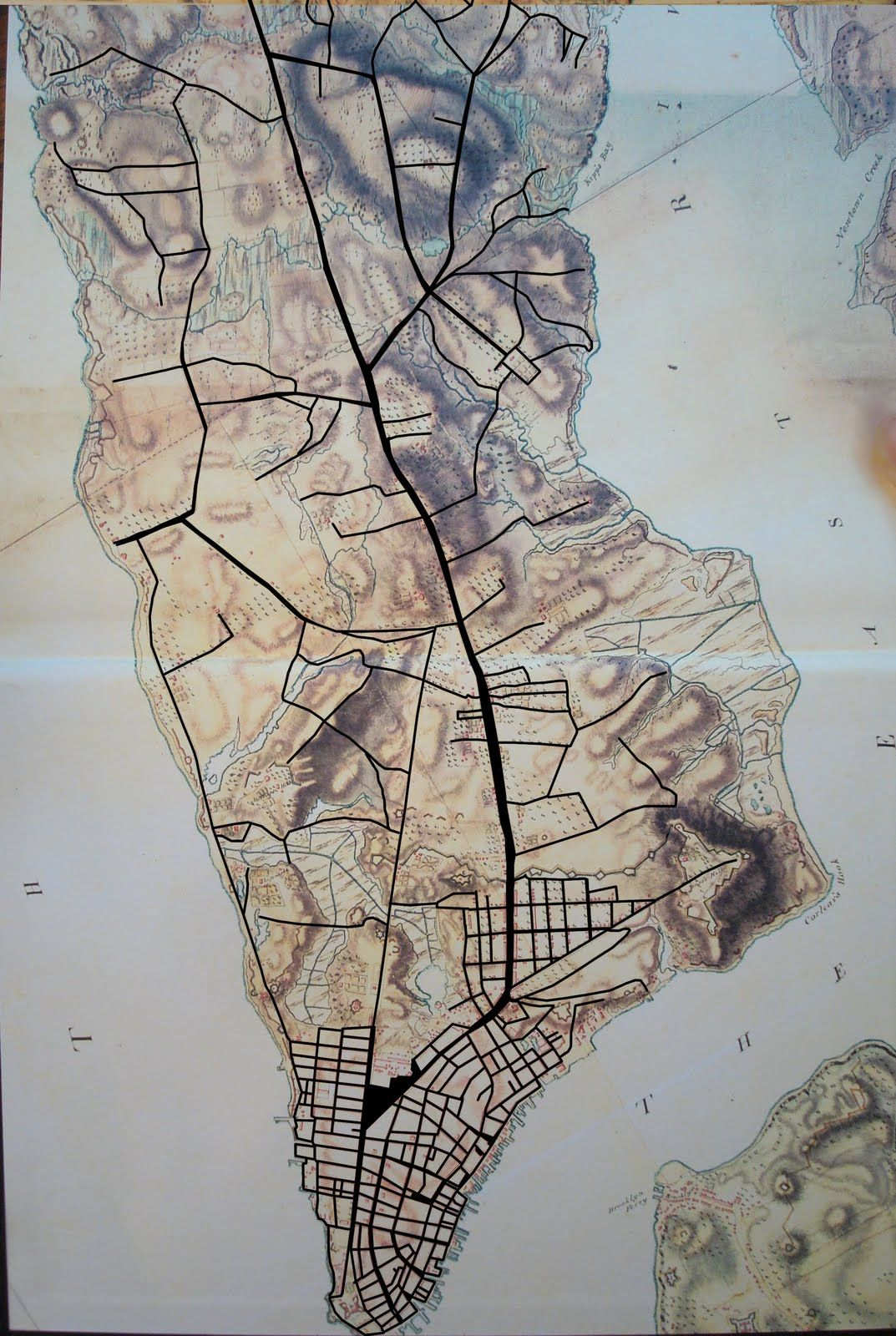 18th century street map of manhattannyc 1073 1600