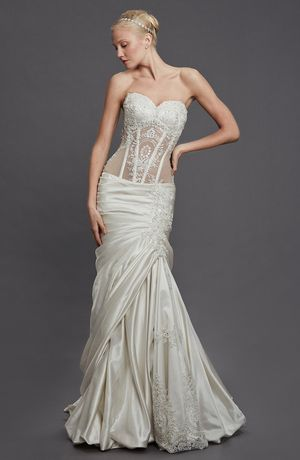 perla dpnina tornai: sweetheart mermaid wedding dress with