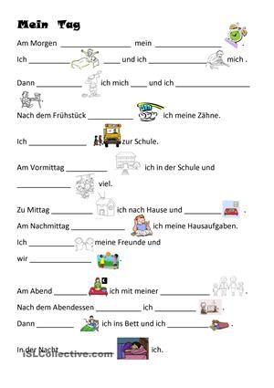 Mein Tag | iskola | Pinterest | German, Deutsch and Homeschool