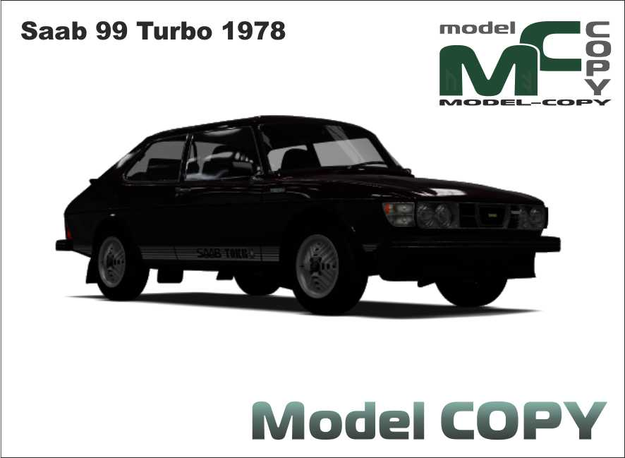 Saab 99 Turbo 1978 3D Model Model COPY in 2020 Saab