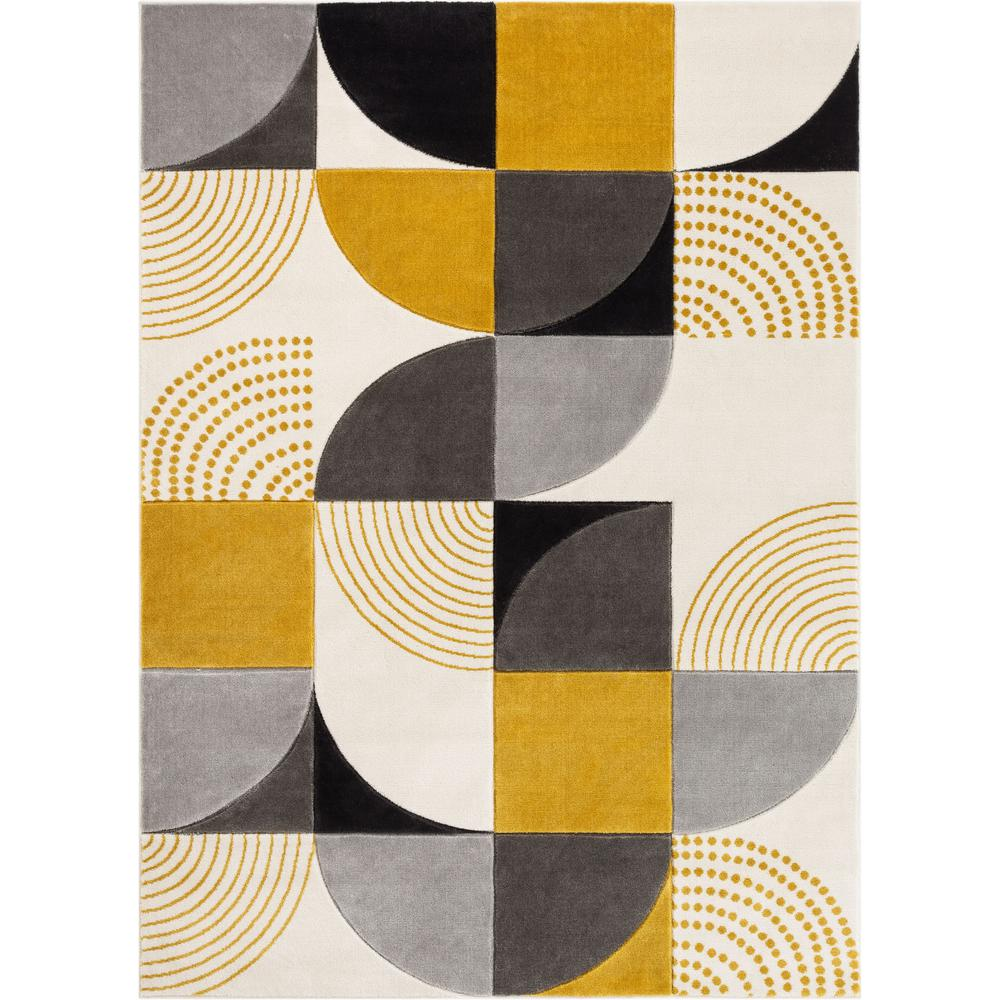 Well Woven Good Vibes Margot Gold Modern Geometric Chevron 5 Ft 3 In X 7 Ft 3 In Area Rug Gv 01 5 The Home Depot In 2020 Geometric Geometric Shapes Geometric Art