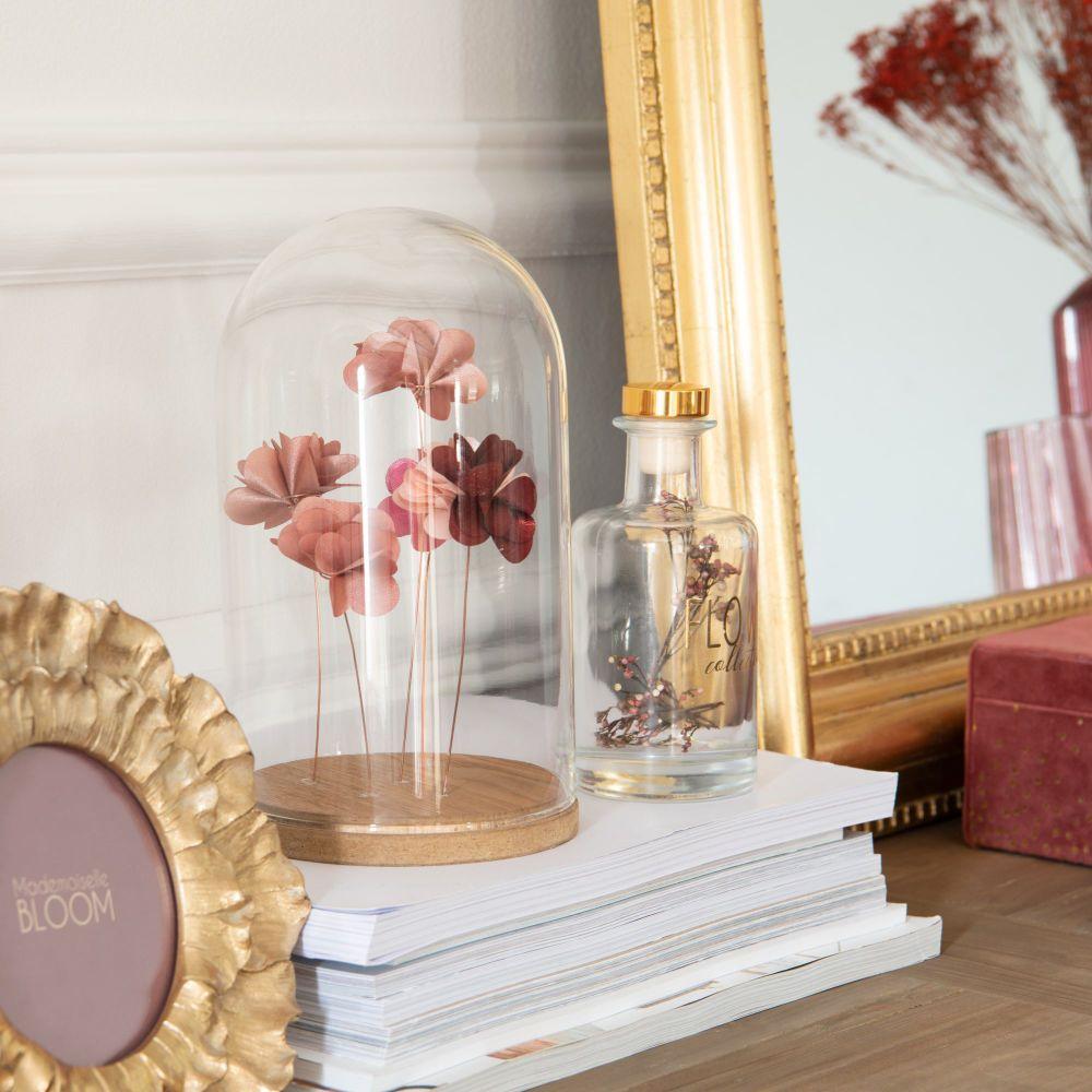 stoffblumen unter glasglocke h21 maisons du monde. Black Bedroom Furniture Sets. Home Design Ideas
