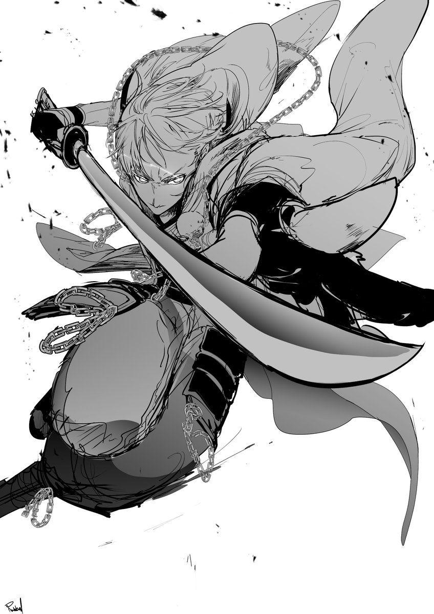 (7) Twitter Character art, Samurai poses, Art reference
