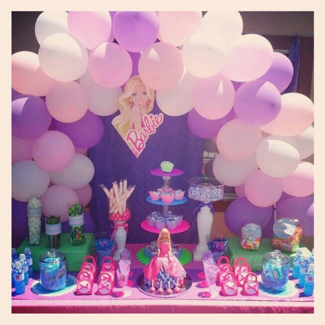 Sensational Barbie Candy Buffet Table Party Crafts In 2019 Candy Interior Design Ideas Clesiryabchikinfo