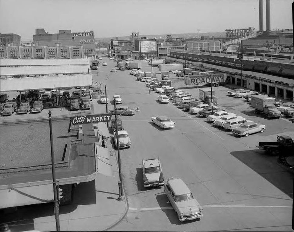 Kansas City, Missouri, 1960 | Kansas city downtown, City market, Kansas city