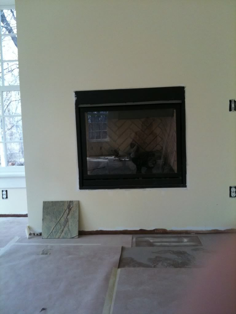 Gas fireplace and Mantels