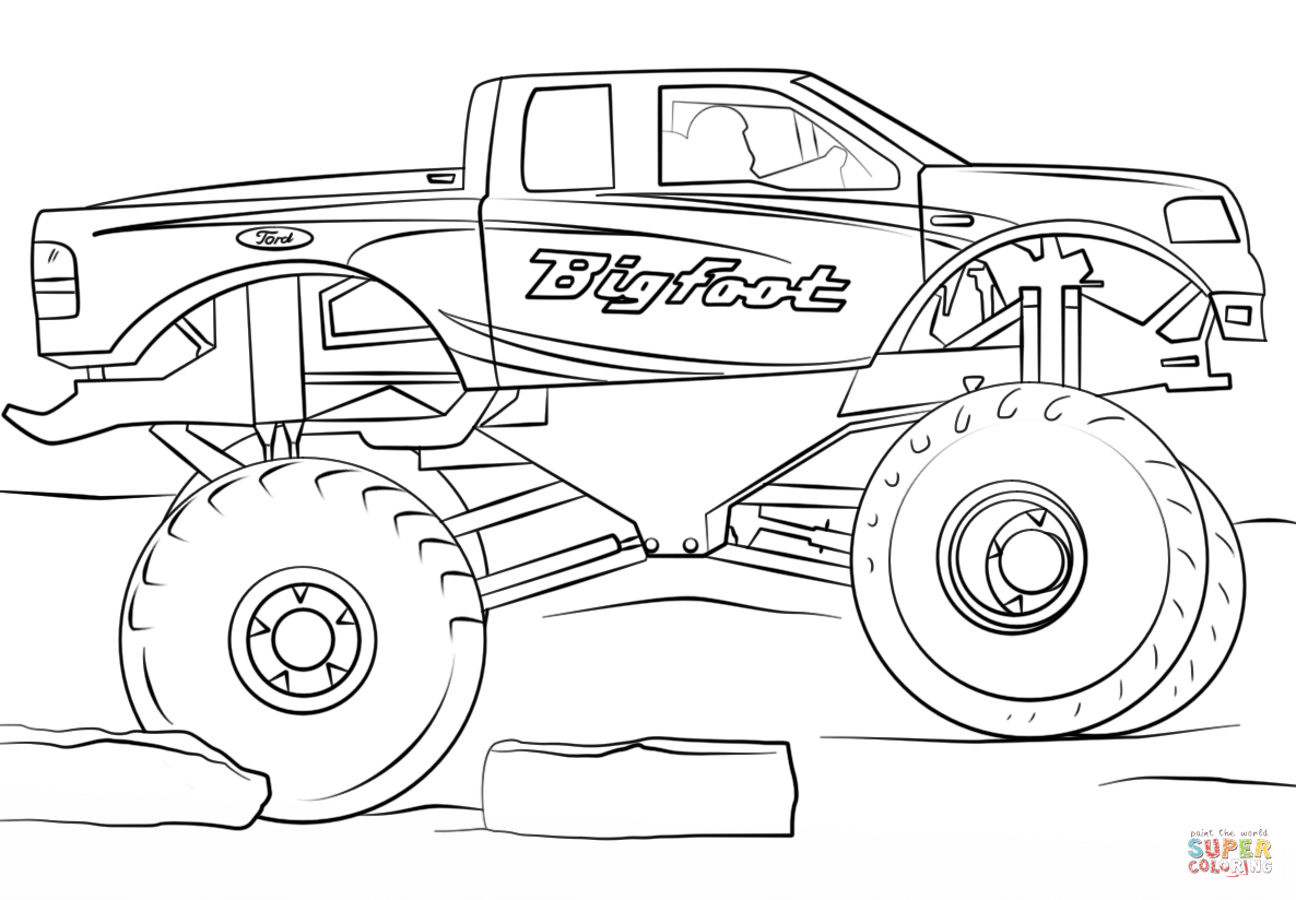 Bigfoot Monster Truck coloring page from Monster Truck ...