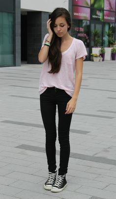 20f6662c9a0 black high top converse outfits - Google Search