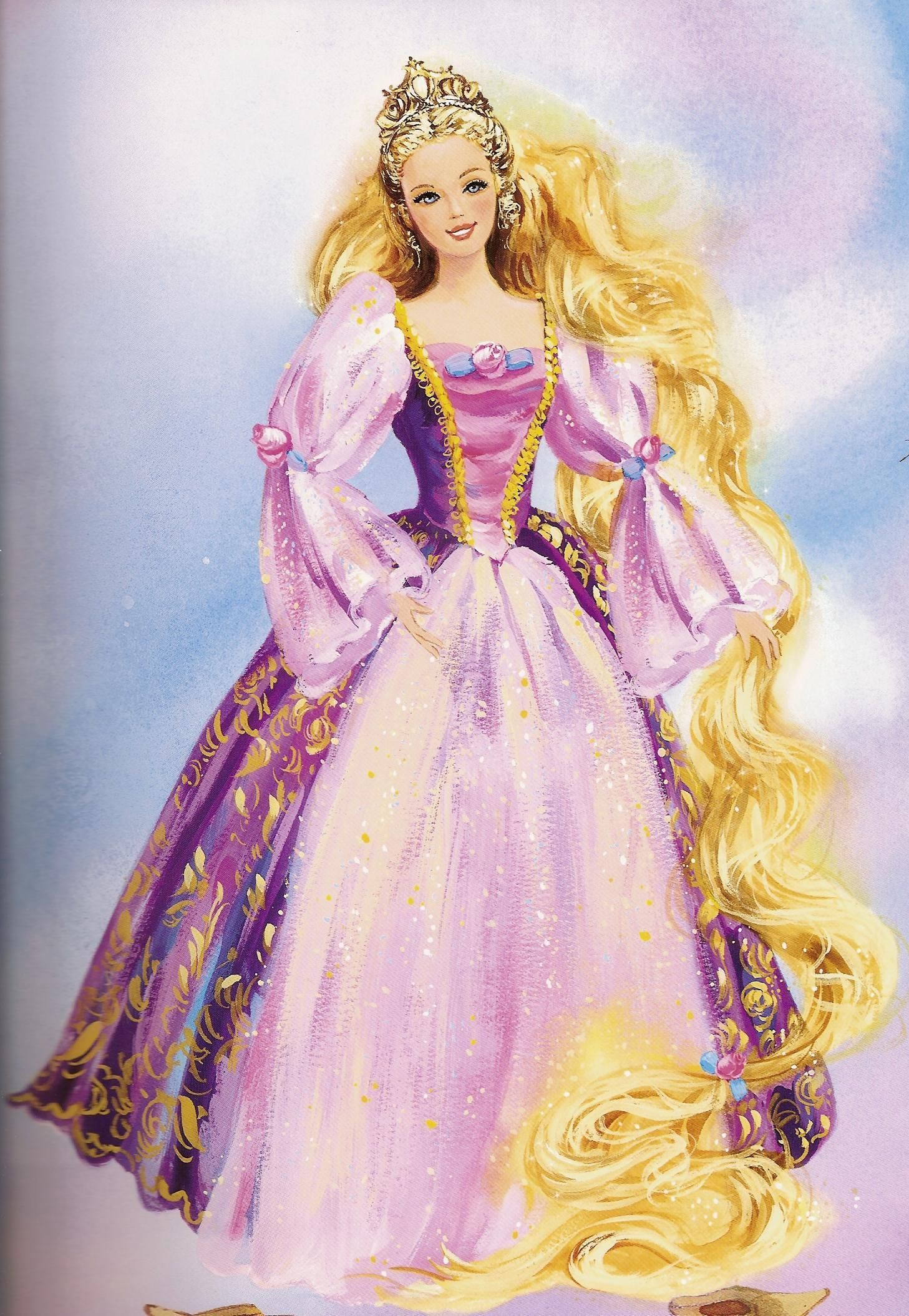 Barbie As Rapunzel Photo Rapunzel Rapunzel Barbie Barbie Painting Barbie Princess