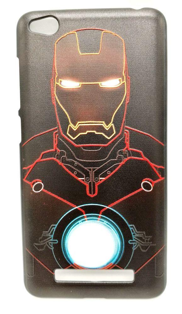 new product 84eb6 d1eda Xiaomi Redmi 4A Printed Ironman Black Hard TPU Mobile Back Cover ...