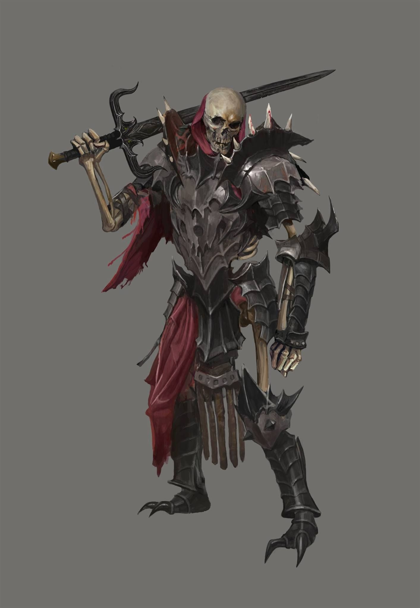 Pin by DarkoK on Fantasy Concept Art   Skeleton warrior ...
