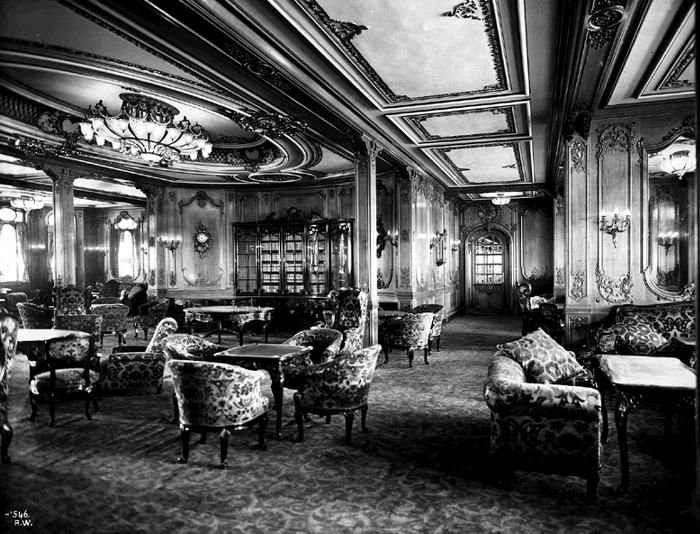 The First Class Lounge On Board RMS Titanic Only Word Which Can Describe Surroundings Of This Room Would Be Luxury