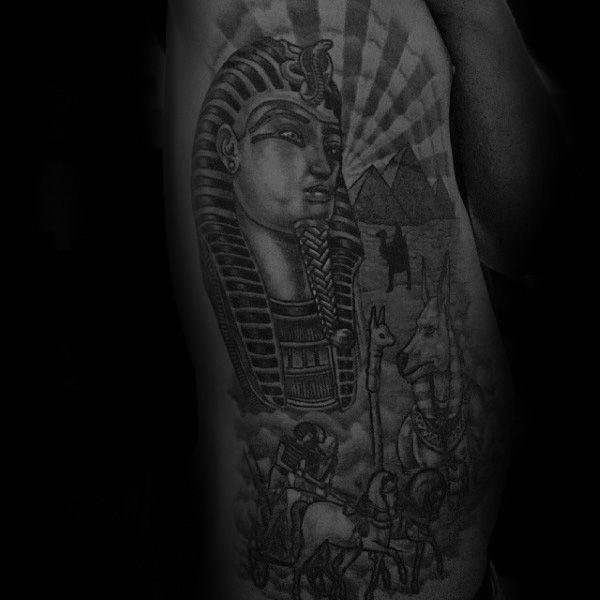 60 King Tut Tattoo Designs For Men - Egyptian Ink Ideas | King tut ...