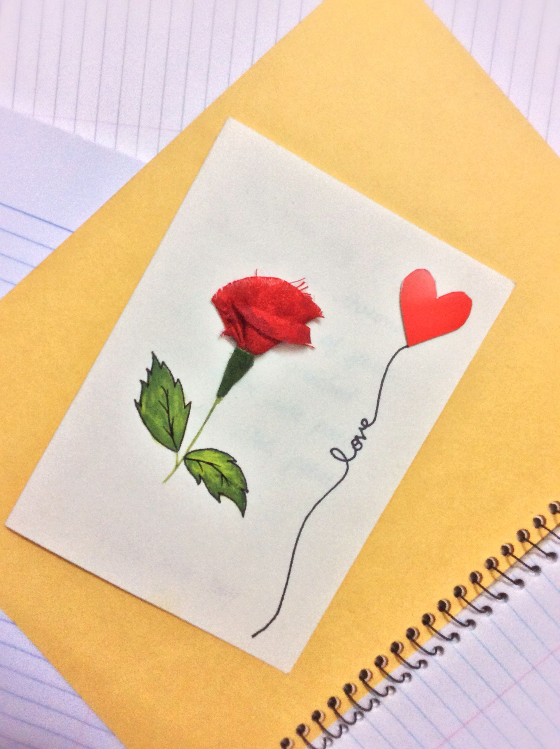 Card Making Ideas For Girlfriend Part - 22: Rose Day Card Valentine Day Weekly Cards Making DIY Crafts For  Husband/wife/boyfriend