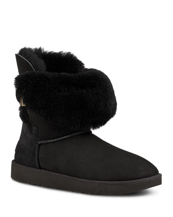 93db5f74b96 Ugg Women's Jaylyn Sheepskin & Leather Booties | Products | Leather ...