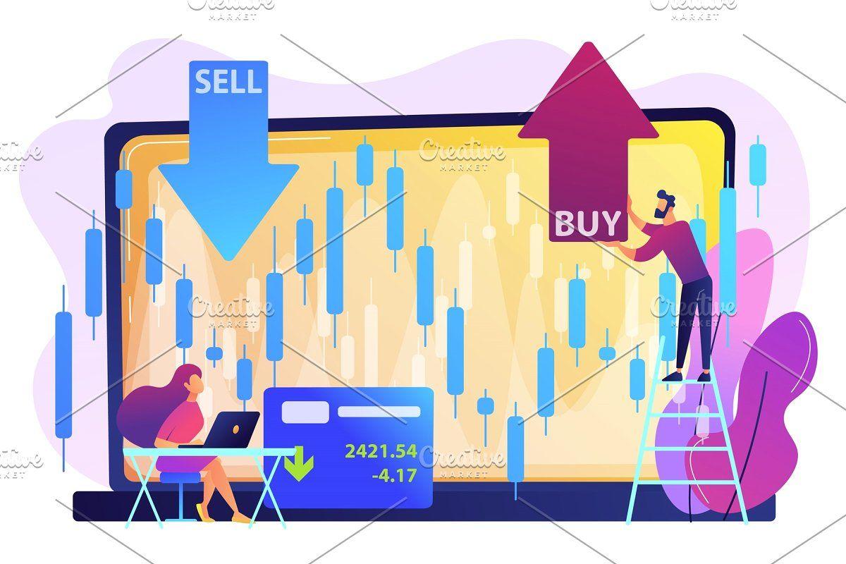 Stock Market Concept Vector Stock Market Stock Market Investing Marketing