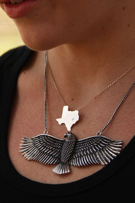 $14 retro eagle necklace
