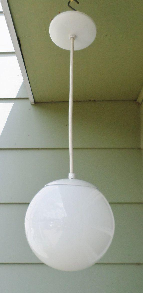 """Bathroom Light Fixtures Mid Century Modern light fixture, 8"""", bubble, globe, mod, eichler style, mid century"""