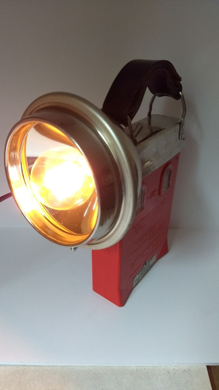 Koehler Wheat Fire Rescue Spot Light Vintage Bulb Recycled Lamp Vintage Lamps