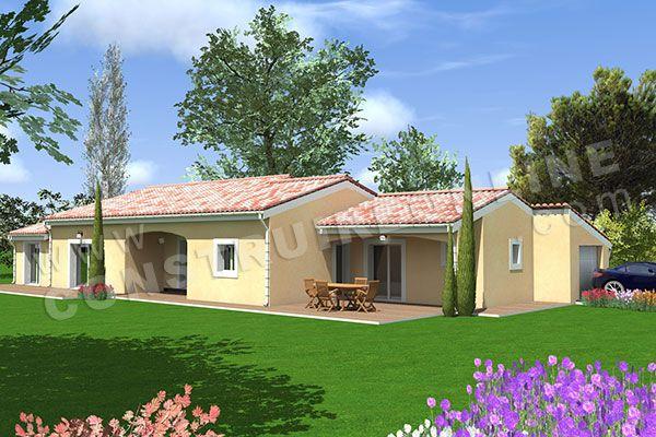 plan de maison plain pied ROMARINE 1 villas Pinterest Villas - maisons plain pied plans gratuits