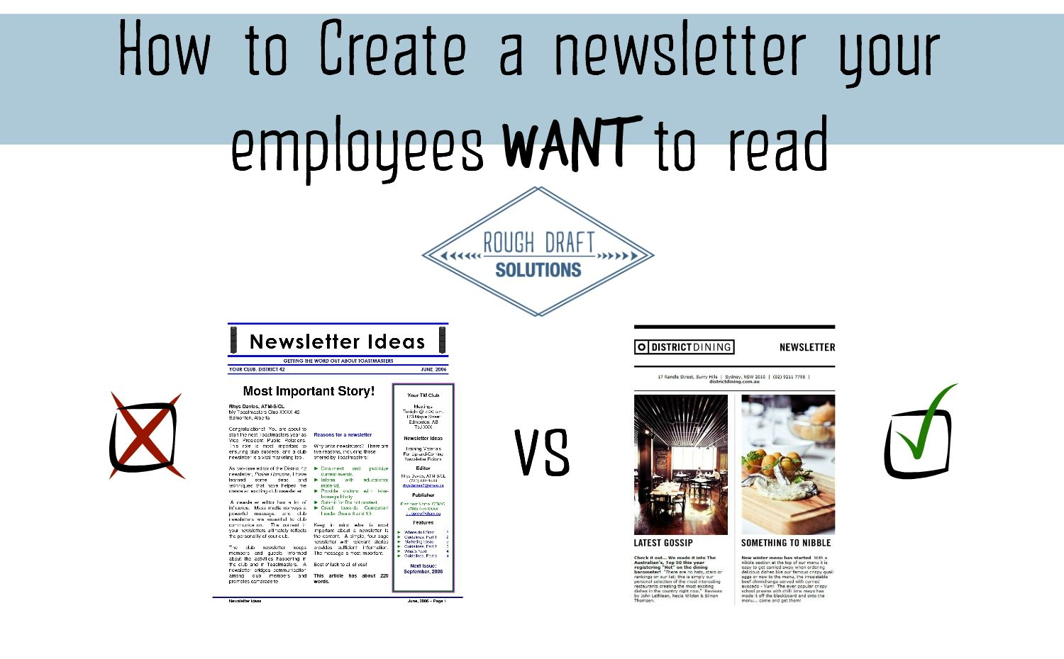 writing a company newsletter