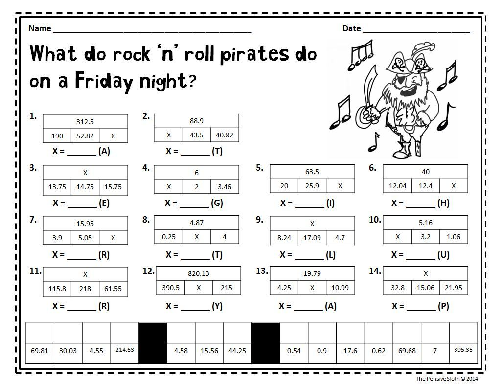 talk like a pirate day math freebie from the pensive sloth | math
