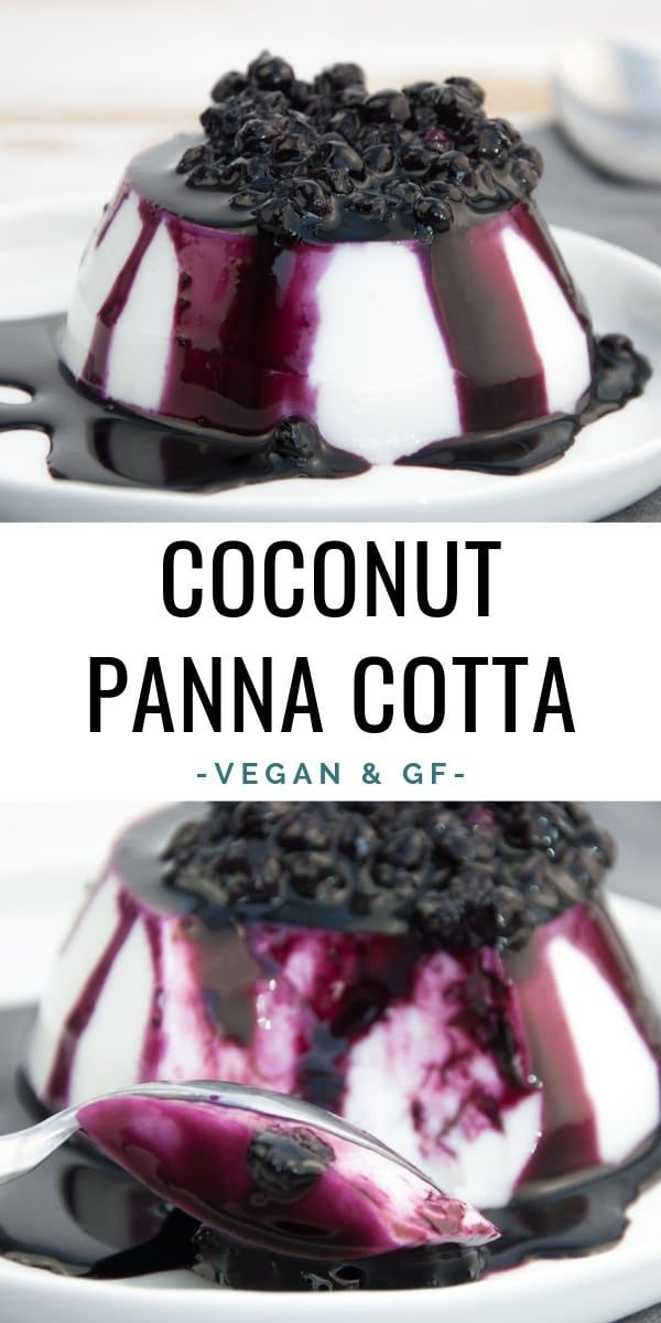 Coconut Panna Cotta with Blueberry Topping | ElephantasticVegan.com #vegan #glutenfree #dessert #sweet #pannacotta #coconut #desertlife