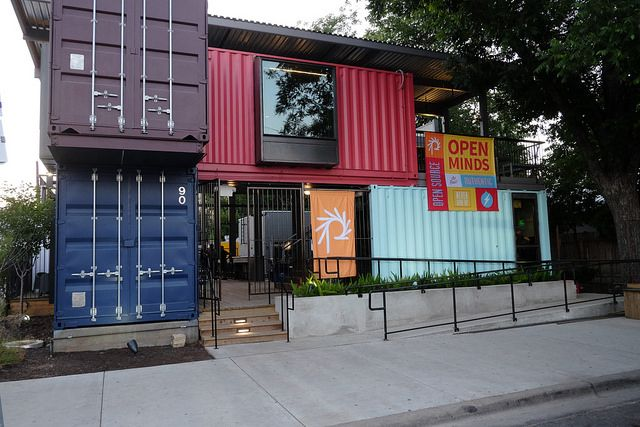 Container bar restaurant container pinterest container bar - Shipping container homes austin ...